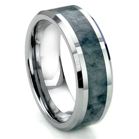 Tungsten Carbide Grey Metamorphic Stone Inlay Beveled. Hip Mens Wedding Rings. Different Stone Wedding Rings. Triple Braided Engagement Rings. Light Colored Engagement Rings. Giraffe Wedding Rings. St Edward's University Rings. Starcraft Rings. Single Stone Mother Rings