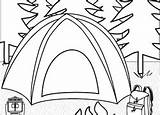 Coloring Camping Education Nature Worksheets Preschool Tent Theme sketch template