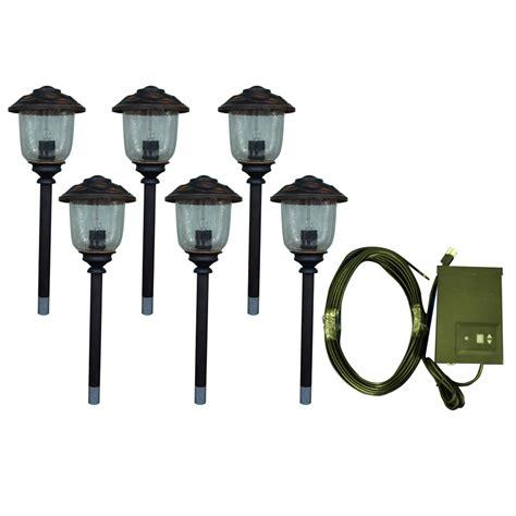low voltage path light kits shop portfolio 6 path light rubbed bronze low voltage