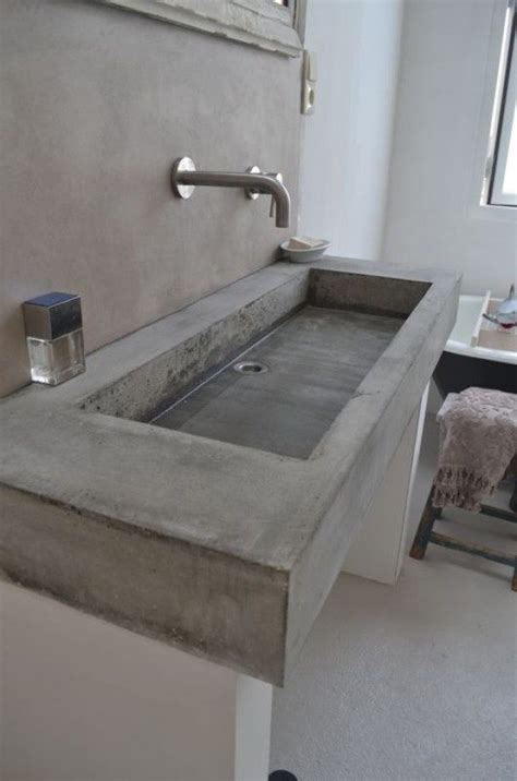 how to make a cement sink concrete bathroom sinks that make a strong statement