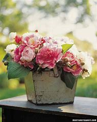 Peony Flower Arrangements Centerpiece