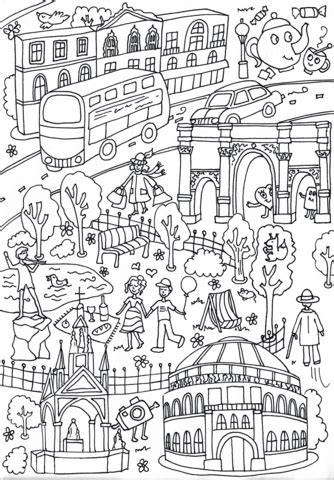 hyde park albert memorial  royal albert hall coloring