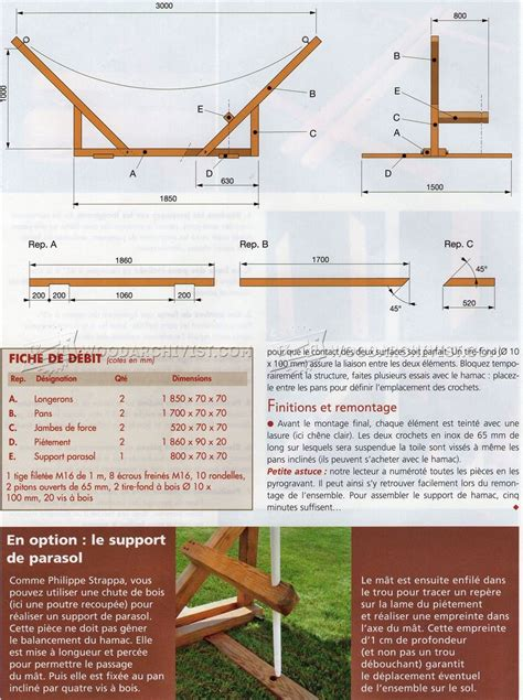 hammock stand plans woodarchivist