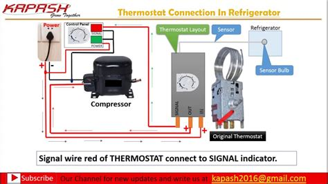 wiring diagram for freezer thermostat thermostat wiring connection in hindi part 2 youtube