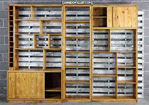 Libreria Pallet by Fabulous Parete In Pallet With Libreria Pallet