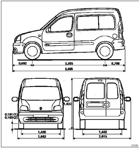 revue technique automobile renault kangoo dimensions generalites t 244 lerie