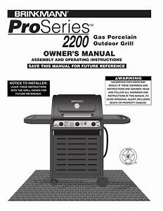 Brinkmann Electric Smoker Grill Manual