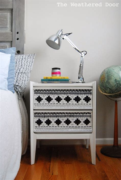 Black And White Nightstands by A Black And White Tribal Nightstand The Weathered Door