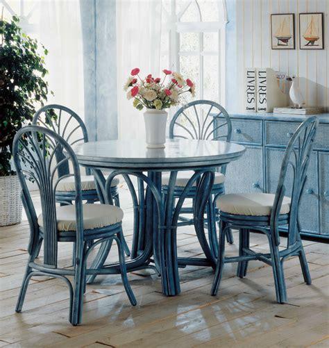 chaises confortables table ronde 5 à 6 personnes en rotin brin d 39 ouest
