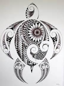 Polynesian Turtle Drawing