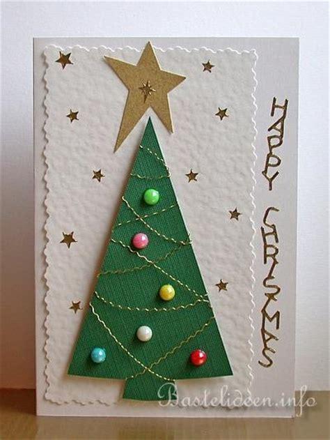 weihnachtskarten bastelidee christbaum weihnachtskarte
