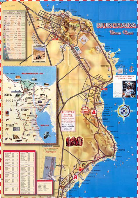 hurghada egypt map