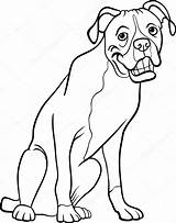 Boxer Dog Cartoon Coloring Disney Printable Illustration Clip Channel Vector Funny Maddie Liv Mural Colorings Plus Google Breed Depositphotos Head sketch template