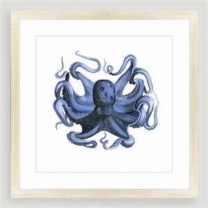 Vintage style octopus sea life wall art world market for Vintage wall decor