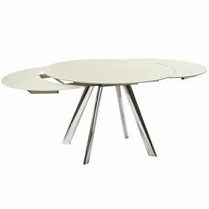 Tisch Rund Ausziehbar : design esstisch concorde rund glastisch beige ausziehbar ~ A.2002-acura-tl-radio.info Haus und Dekorationen