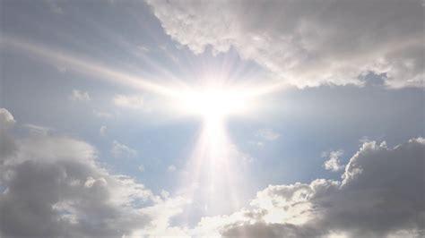 clear plans heavenly sun light cloudscape background effect stock