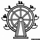 Ferris Wheel Coloring Coaster Roller Wheels Park Drawing Amusement Pages Outline Thecolor Paper Cartoon Drawings Colouring Printable Template Clipart Google sketch template