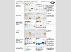 Yearly District Calendar Printable 201819 Student