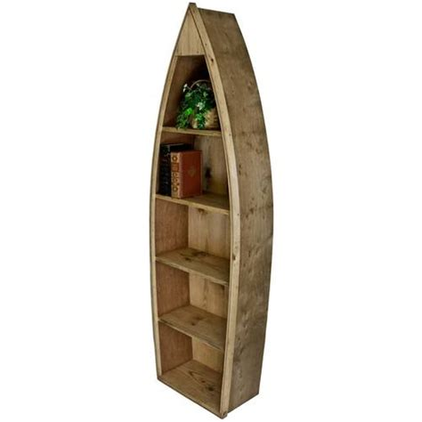 Unfinished Boat Bookshelf by Wooden Boat Bookcase Boat Shaped Bookcase Furniture