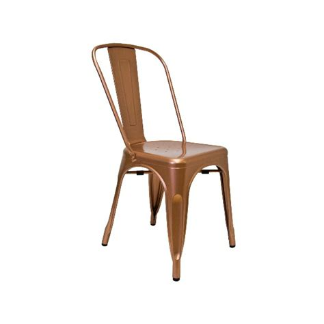 solid copper finish tolix chair tablebasedepot