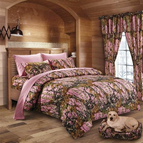 7 pc regal comfort pink camo comforter sheet