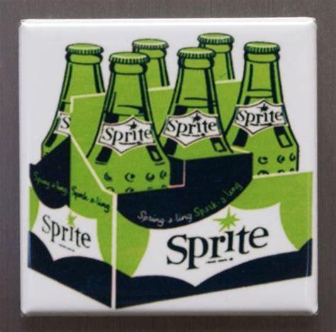 Sprite Refrigerator Fridge Magnet Vintage Style Ad Coke