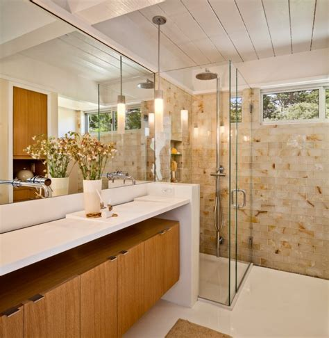 stylish mid century modern bathroom designs