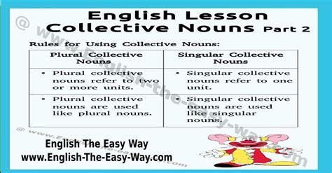 Collective Nouns  English Grammar  English The Easy Way