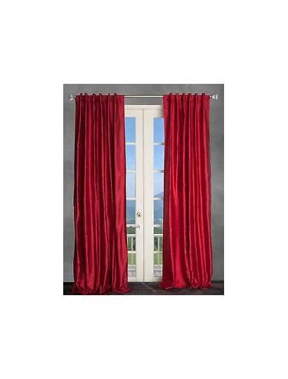 Curtains Silk Drapes Dupioni Burgundy Panels Valances