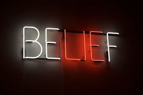 belief neon sculpture  joe rees   posted