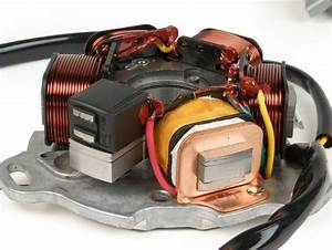 Lambretta Electronic Ignition Kit  Dc  Gp  Flywheel  Stator  Red Cdi  Rect  Bgm