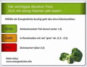 Energiedichte Berechnen : mit dem energiedichte trick abnehmen vibono ~ Themetempest.com Abrechnung