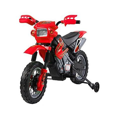 Sei nel posto giusto per motocross. Homcom moto cross elettrica per bambini con rotelle rosso ...