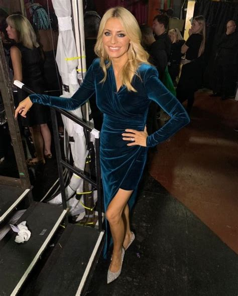 Strictly's Tess Daly stuns in thigh-split velvet dress as ...