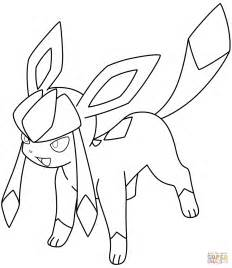 Pokemon Glaceon Coloring Pages Printable