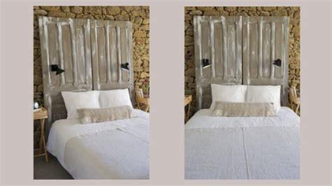 customiser une porte de chambre transformez des portes anciennes en tête de lit déco