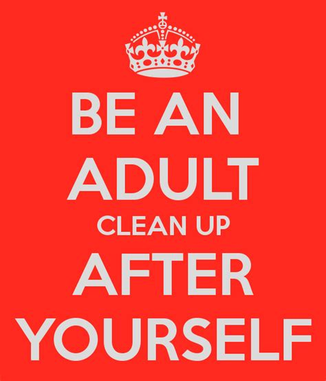 Kitchen Clean Up Signs by Be An Clean Up After Yourself Poster Harry Keep