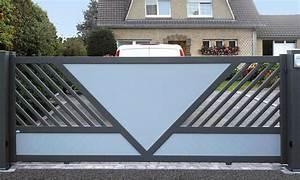 Modele De Portail Coulissant : portail alu collection design gamme zenox line tschoepp ~ Premium-room.com Idées de Décoration
