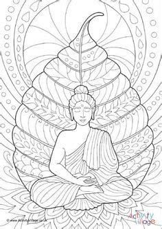 Coloring Logo In Photoshop by Buddha Bodhi Tree Colouring Page Alphabet In 2019