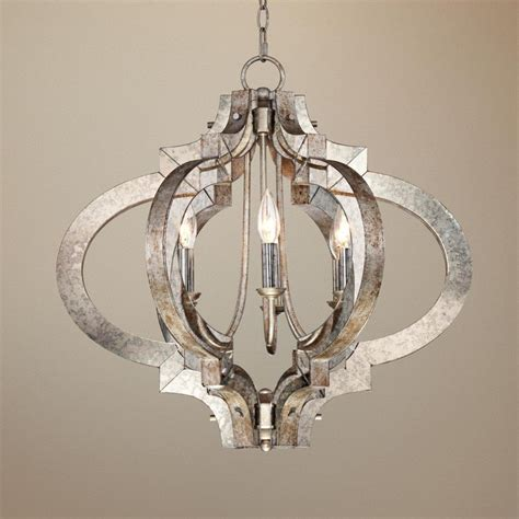 chandelier silver light chandeliers ornament aged lighting possini lamps plus kitchen wide lampsplus mediterranean modern pendant barn pottery foyer dining
