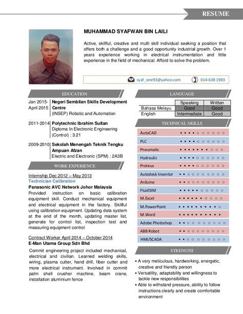 resume sle malaysia doc contoh resume terbaik