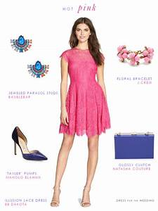 wedding guest outfits for 2015 With hot pink dress for wedding guest