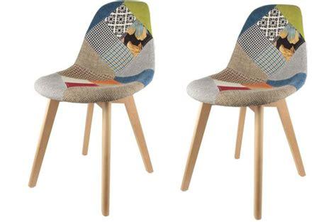 livre de cuisine pas cher lot de 2 chaises scandinaves patchwork colorés fjord