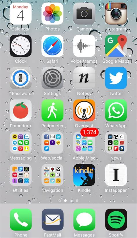 iphone home my iphone home screen early 2016 newley