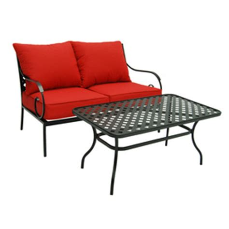 shop garden treasures yorkford 2 steel patio