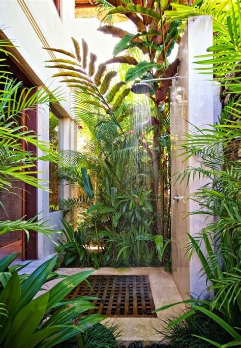 Tropical Shower by Tropical Chic Design Outdoor Shower La Maison Outdoors