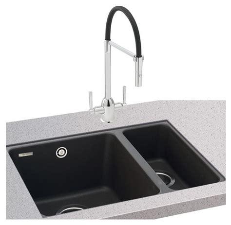 black kitchen sink undermount carron fiji150 16 undermount granite sink in