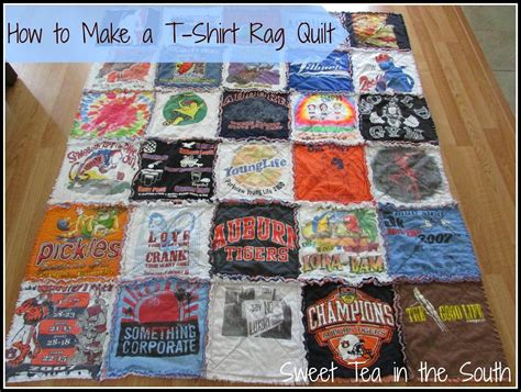 how to make a t shirt quilt how to make a t shirt rag quilt the non quilter s quilt