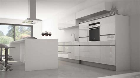 cuisine en blanc cuisine grise plan de travail blanc