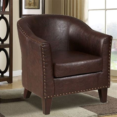pri brown leather arm chair ds 2278 900 2 the home depot